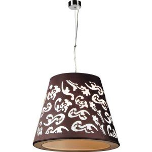 PLC Lighting PLC 73037 BLACK CFL Infinity 1 Light Pendant Infinity Collection