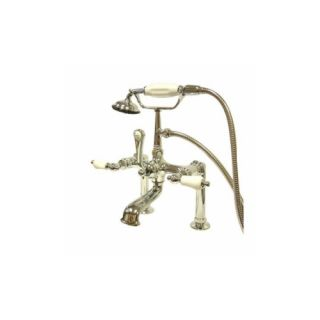 Elements of Design DT1041PL St. Louis Clawfoot Tub Filler With Hand Shower
