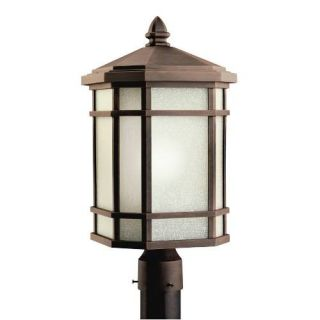 Kichler 9902PR Outdoor Light, Arts and Crafts/Mission Post Mount 1 Light Fixture Prairie Rock