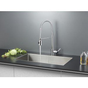 Ruvati RVC2326 Combo Stainless Steel Kitchen Sink and Chrome Faucet Set