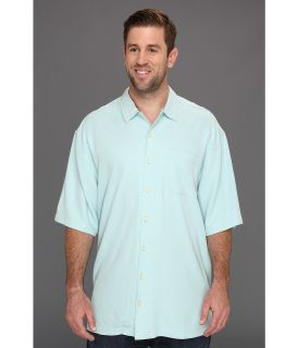 Tommy Bahama Big & Tall Big Tall Catalina Twill Camp Shirt Mens Short Sleeve Button Up (Blue)