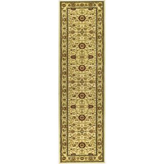 Lyndhurst Collection Majestic Ivory/ Ivory Runner (23 X 8)
