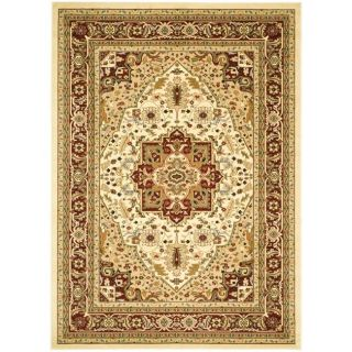 Lyndhurst Collection Ivory/ Red Rug (9 X 12)