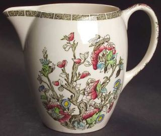 Johnson Brothers Indian Tree (Green Key, Cream) 32 Oz Pitcher, Fine China Dinner