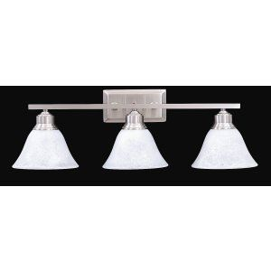Framburg Lighting FRA 9323 BS Solstice Three Light Bath Fixture from the Solstic