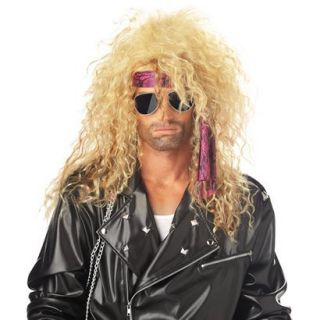 Womens Heavy Metal Rocker Blonde Wig