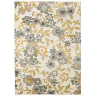 Threshold Soft Floral Area Rug   Cream/Blue (7x10)