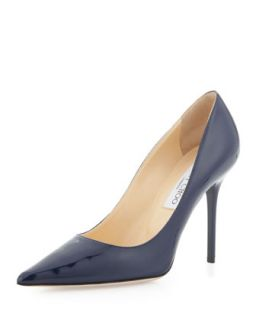 Abel Patent Point Toe Pump, Navy   Jimmy Choo