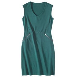 Mossimo Womens Ponte Sleeveless Dress w/ Zippered Pockets   Seaside Teal XS