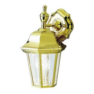 Kichler 9409PB Outdoor Light, Transitional Wall 1 Light Fixture Polished Brass