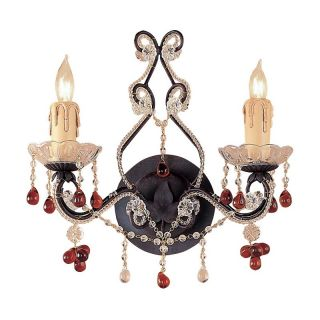 Crystorama 4522 DR Paris Flea Market Wall Sconce   12W in.   Dark Rust