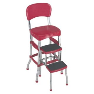 Cosco Step Stool Cosco Retro Chair with Step Stool   Red