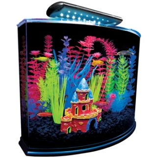 5 Gallon Crescent Aquarium Kit, 16.5 L X 11.25 W X 13.2 H