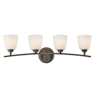 Kichler 45361OZ Bathroom Light, Transitional Bath 4Light Fixture Olde Bronze