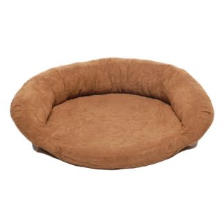 Everest Pet Memory Foam Bolster Dog Bed with Protector Pad 0161 Chocolate Siz