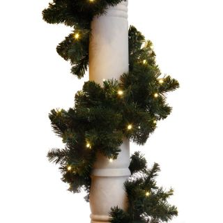 Brite Ideas Decorating 9 ft. Sierra Fir Garland   100 LED Concave Bulbs   LED