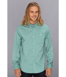 DC Anvil 2 Long Sleeve Shirt Mens Long Sleeve Button Up (Green)
