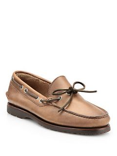 Brunello Cucinelli Leather Moccasins   Light Brown  Brunello Cucinelli Shoes