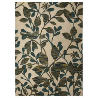 Threshold Space Dyed Vine Area Rug   Blue/Green (5x7)