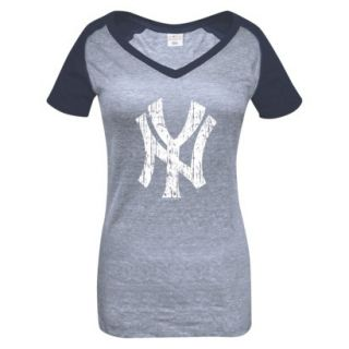 MLB Womens New York Yankees T Shirt   Grey/Navy (M)