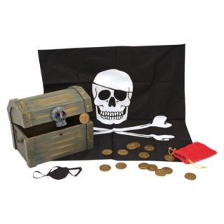 Deluxe Wooden Pirate Treasure Chest