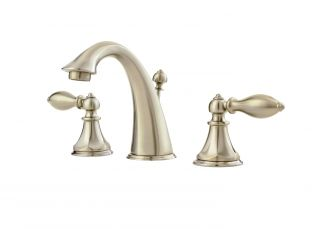 Price Pfister F 049 E0BK Catalina 8 In. Widespread 2 Handle High Arc Bathroom Fa