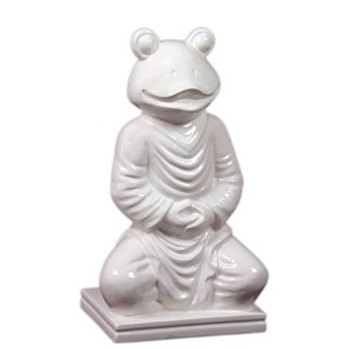 Urban Trends Collection 15 inch White Ceramic Frog (CeramicDimensions 8.46 inches wide x 6.5 inches deep x 15.16 inches highModel UTC66500UPC 877101665007For Decorative Purposes Only)