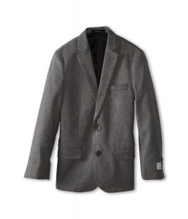 Calvin Klein Kids Brushed Check Sportcoat Boys Jacket (Gray)