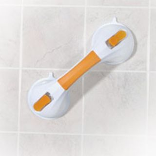 Drive Medical White and Yellow Suction Cup Grab Bar   12