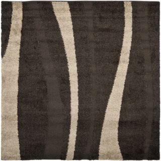 Safavieh Florida Shag Dark Brown/Beige Rug SG451 2813 Rug Size Square 67