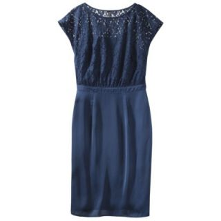 TEVOLIO Womens Lace Bodice Dress   Office Blue   2