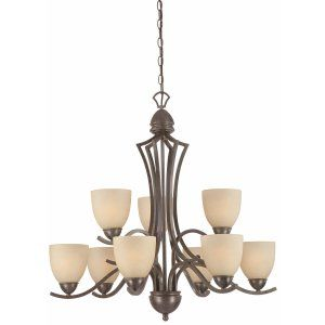 Thomas Lighting THO SL808322 Triton Chandelier Sable Bronze 9x100W