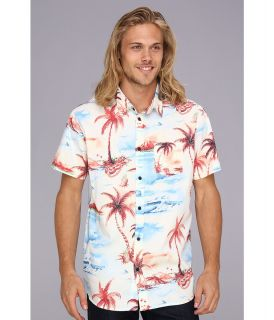 Rip Curl Dream Vacay S/S Shirt Mens Short Sleeve Button Up (Blue)