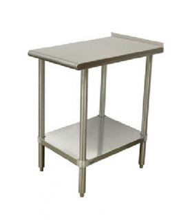 Advance Tabco Equipment Filler Table   18x30, Undershelf, 1.5 Turn Up In Read, Stainless Steel