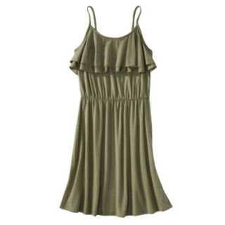 Mossimo Supply Co. Juniors Ruffle Front Dress   Tanglewood Green S(3 5)