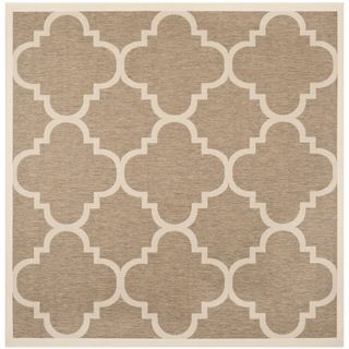 Safavieh Indoor/ Outdoor Courtyard Brown Rug (4 Square)