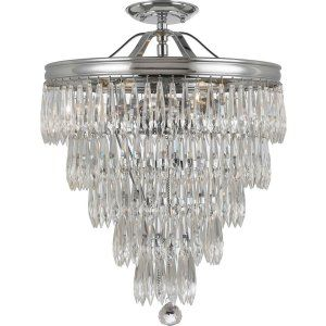 Crystorama Lighting CRY 120 CH CEILING Chloe Chloe 3 Light Chrome Semi Flush