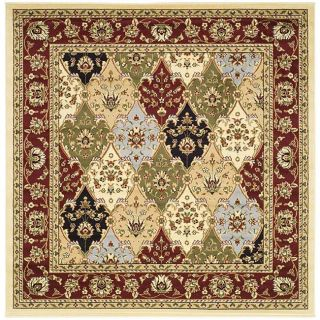 Lyndhurst Collection Multicolor/ Red Rug (8 Square)