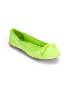 Ralph Lauren Girls Allie Canvas Ballet Flats