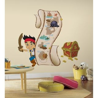 Jake and The Neverland Pirates Peel and Stick Growth Chart Wall Decals