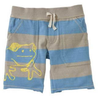 Burts Bees Baby Toddler Boys Rugby Short   Frog Blue 4T