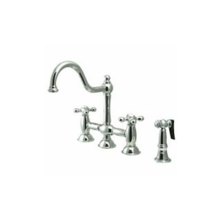 Elements of Design ES3791AXBS Universal Two Handle Kitchen Faucet With Spray