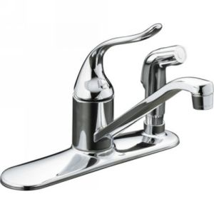 Kohler K 15173 PT CP Coralais Single Handle Kitchen Faucet with Sidespray