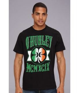 Hurley Green Leaf Premium Tee Mens T Shirt (Black)