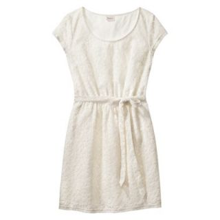 Merona Womens Lace Sheath Dress   Sour Cream   M