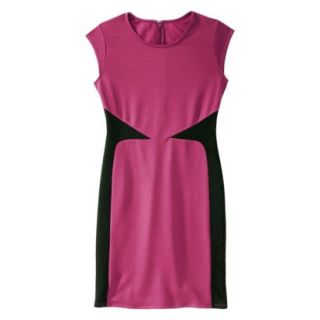 Mossimo Womens Colorblock Scuba Dress   Sangria/Black XS