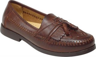 Mens Deer Stags Herman   Dark Maple Leather/Synthetic Casual Shoes