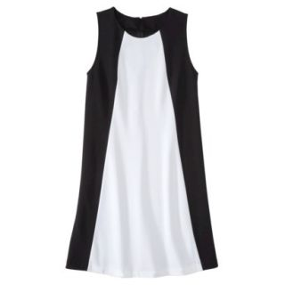 Mossimo Womens Colorblock Shift Dress   Black/Fresh White XXL