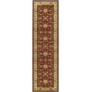 Lyndhurst Collection Majestic Red/ Ivory Runner (23 X 6)