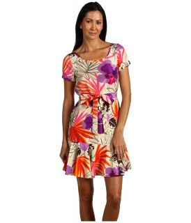 Kate Spade New York Tropical Orchid Elliana Dress Womens Dress (Multi)